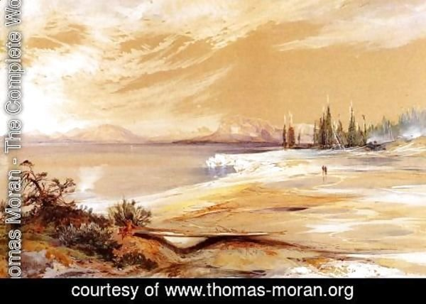 Thomas Moran - Hot Springs On The Shore Of Yellowstone Lake