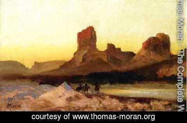 Thomas Moran - Indians At The Green River