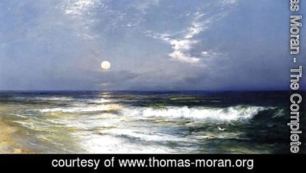 Thomas Moran - Moonlit Seascape2