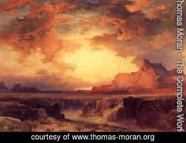 Thomas Moran - Near Fort Wingate  New Mexico
