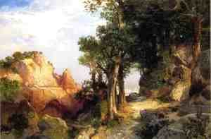 Thomas Moran - On The Berry Trail   Grand Canyon Of Arizona
