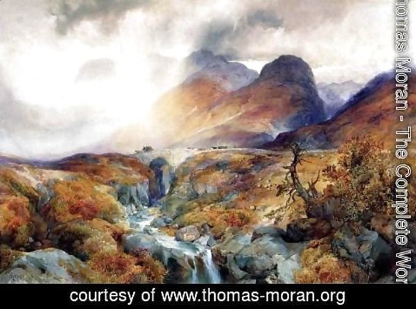 Thomas Moran - Pass At Glencoe  Scotland