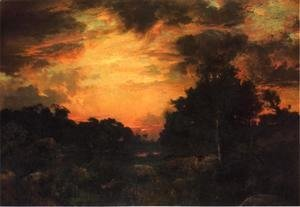 Thomas Moran - Sunset On Long Island2