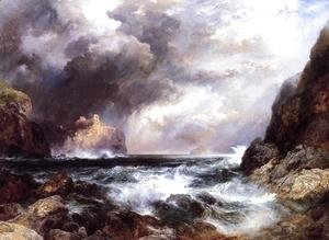 Thomas Moran - Tantallon Castle  North Berwick  Scotland
