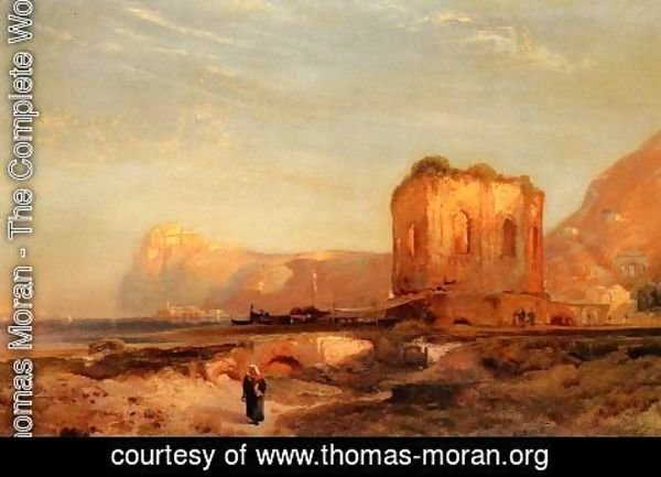 Thomas Moran - Temple Of Venus  Castle Of Baiae