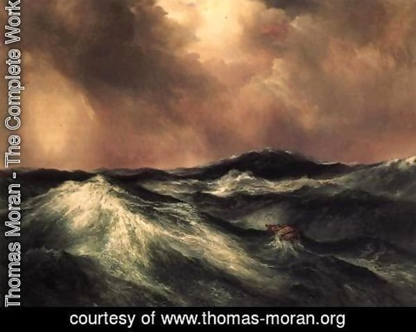 Thomas Moran - The Angry Sea