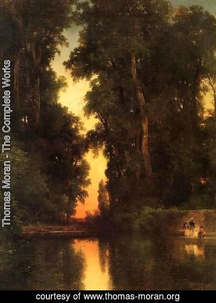 Thomas Moran - The Borda Gardens  Mexico