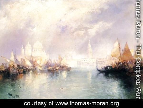 Thomas Moran - The Church Of Santa Maria Della Salute  Venice
