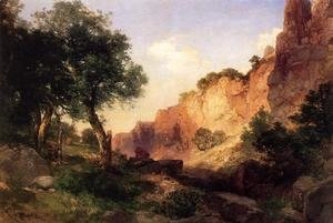 Thomas Moran - The Grand Canyon   Hance Trail