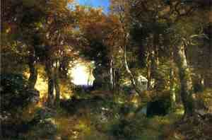 Thomas Moran - The Woodland Pool