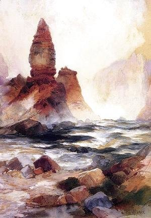 Thomas Moran - Tower Falls And Sulphur Rock  Yellowstone
