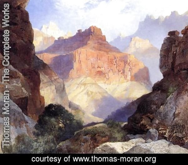 Thomas Moran - Under The Red Wall  Grand Canyon Of Arizona