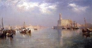 Thomas Moran - Vera Cruz Harbor  Mexico