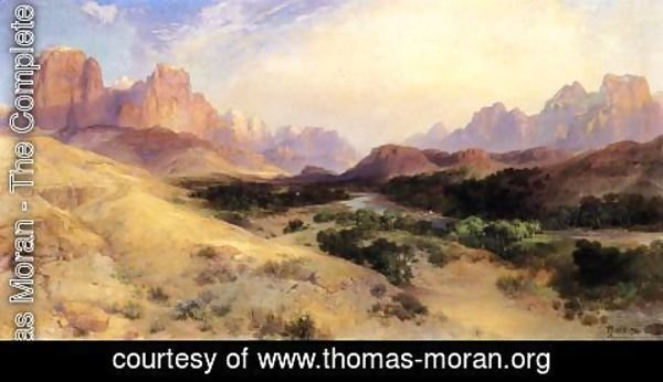 Thomas Moran - Zion Valley  South Utah